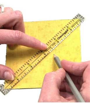 """Omnigrid Clear Marking Ruler Trio-4"""",6""""&12"""""""