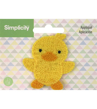 Simplicity Duck Baby Sew-on Applique-Yellow