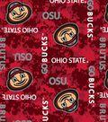 Ohio State University Buckeyes Fleece Fabric 58\u0022-Digital