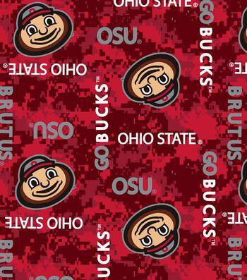 """Ohio State University Buckeyes Fleece Fabric 58""""-Digital"""
