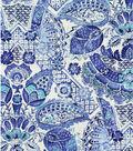 Williamsburg Lightweight Decor Fabric 54\u0022-Byzantine Damask/Porcelain