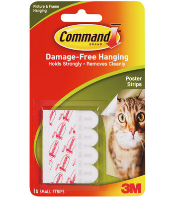 Command Poster Strips W/Adhesive-12 White