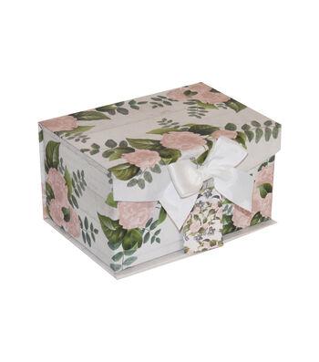 Small Fliptop Storage Box-Floral 1