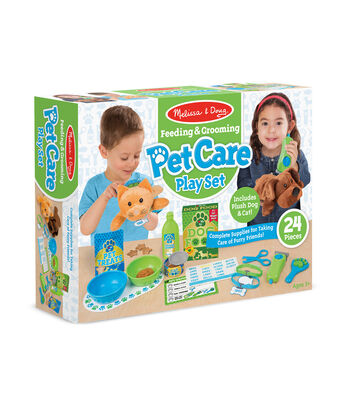 Melissa & Doug Feeding Grooming Pet Care Play Set