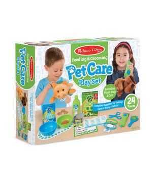 Melissa & Doug Feeding & Grooming Pet Care Playset