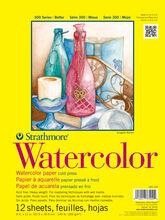 Strathmore 300 Series 12 Sheets 9''x12'' Watercolor Pad, , hi-res