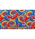 Anti-Pill Fleece Fabric 59\u0022-Blue Red Swirl Tie Dye