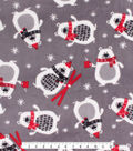 Christmas Anti-Pill Plush Fleece Fabric-Skiing Bears
