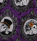 Halloween Cotton Fabric -Skeleton Portraits