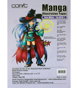 "Copic Manga Illustration Paper A4 8.3""X11.7"" 30 Pack-Pure White"
