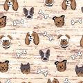 Snuggle Flannel Fabric-Puppy Faces & Bones