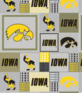 Iowa Hawkeyes Fleece - Heather Gray Box Allover