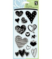 Inkadinkado Clear Stamps-Hearts, , hi-res