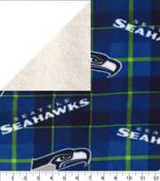 Seattle Seahawks Fleece Fabric-Plaid Sherpa, , hi-res