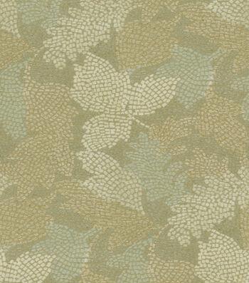 "Waverly Upholstery Fabric 54""-Mosaic Leaves Vapor"
