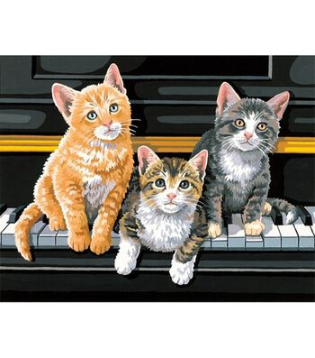 "Dimensions Paint By Number Kit 14""X11""-Musical Trio"