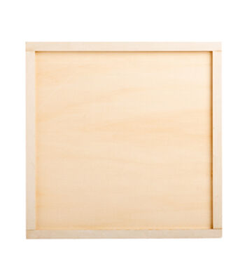 Simply Spring Crafts 16''x16'' Wood Square Sign Making Frame