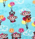 Blizzard Fleece Fabric-Peace Love Monkey