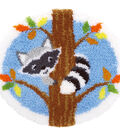 Vervaco 21.5\u0027\u0027x20\u0027\u0027 Shaped Rug Latch Hook Kit-Raccoon in the Tree