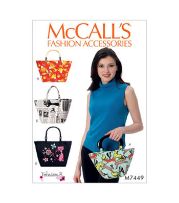 McCall's Pattern M7449 Handle Bags & Totes