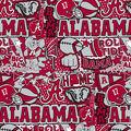 Alabama Crimson Tide Cotton Fabric-Pop Art
