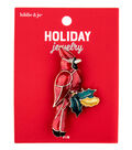 hildie & jo Christmas Holiday Jewelry Enamel Cardinal Pin