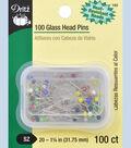 Dritz Glass Head Pins Size 20 100pcs