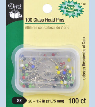 Dritz Glass Head Pins Size 20 100pcs