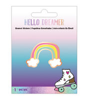 American Crafts Hello Dreamer Rainbow Adhesive Enamel Sticker, , hi-res