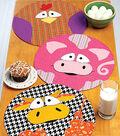 Kwik Sew Pattern K0217 Circular Farm Animal Placemats
