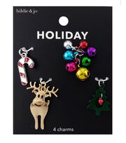 hildie & jo Holiday Charms-Multi Color Bells & Trees, , hi-res