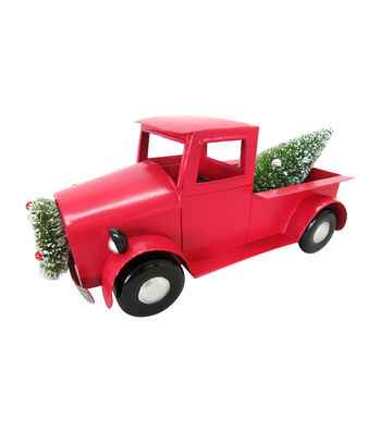 Maker's Holiday Christmas Metal Truck with Tree