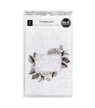 We R Memory Keepers Typecast 6 pk Treat Bags-Pattern