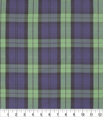 Sew Sweet Taffeta Fabric-Plaid Print Black Watch