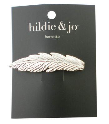 hildie & jo Leaf Silver Barrette