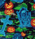 Halloween Cotton Fabric -Creepy Graveyard