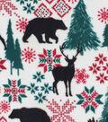 Anti-Pill Plush Fabric-Bears & Moose Fair Isle