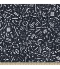 Anti-Pill Fleece Fabric 59\u0022-Chalkboard Music Notes Navy
