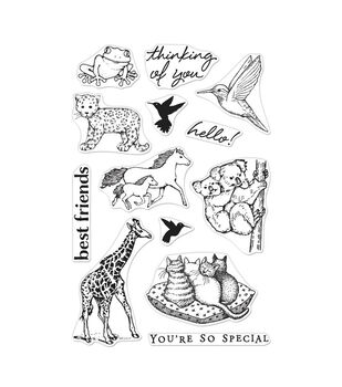 Hero Arts Clear Stamp Set Realistic Animals