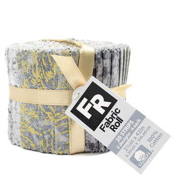"Quilt Fabric Roll 3.5""-Gray Metallic"