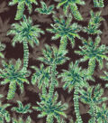 Novelty Cotton Fabric-Palm Trees