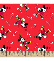 Disney Minnie Mouse Knit Fabric-Candy Canes, , hi-res