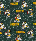 Green Bay Packers Cotton Fabric-Mickey