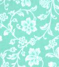 Snuggle Flannel Fabric 42\u0022-Gypsy Teal Floral Vines