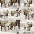 Super Snuggle Flannel Fabric-Winter Horses