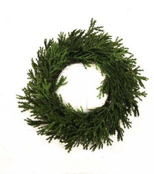 Handmade Holiday Christmas 7'' Pine Leaf DIY Wreath