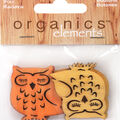 Favorite Findings 6 pk Owl Buttons