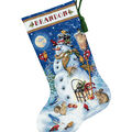 Gold Collection Snowman & Friends Stocking Counted X-Stich Kit