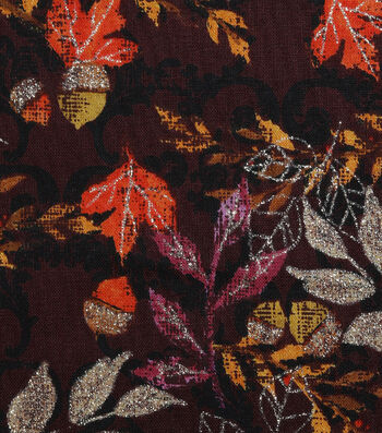 Harvest Cotton Fabric-Tossed Autumn Leaves