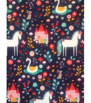 Doodles Juvenile Apparel Fabric 57''-Unicorn & Garden